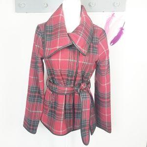 Medium| Jack by BB Dakota Tartan Wrap Jacket